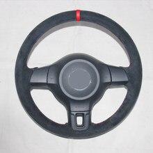 Черная замша ручная строчка APPDEE чехол рулевого колеса автомобиля для Volkswagen Golf 6 Mk6 VW Polo MK5 2010-2013