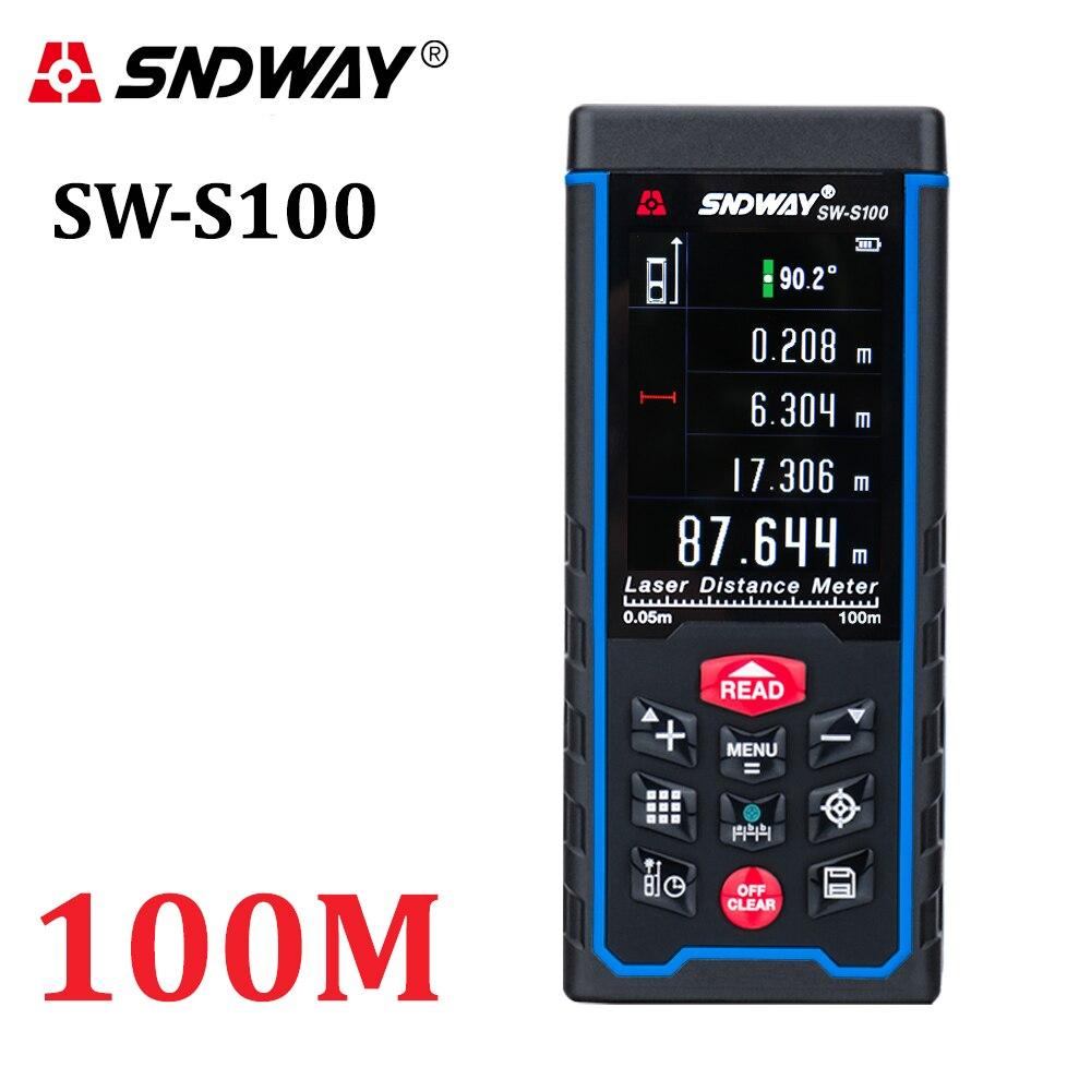 SNDWAY Digital Laser rangefinder Color display Rechargeabel 100M 70M 50M Laser Range Finder distance meter free shipping-in Laser Rangefinders from Tools