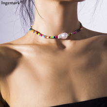 Gothic Baroque Pearl Choker Necklace for Women Statement 2019 New Fashion Strands Seed Bead Chain Vacation Best Gifts