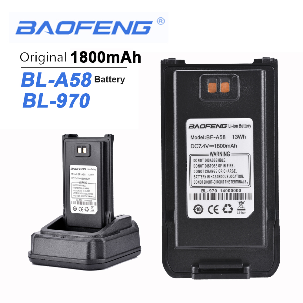 New Original Baofeng A58 BL-970 Walkie Talkie 7.4V 1800mAh Battery For Baofeng A58 BL-970 Two Way Radio Radio Hiundaj Tuscon