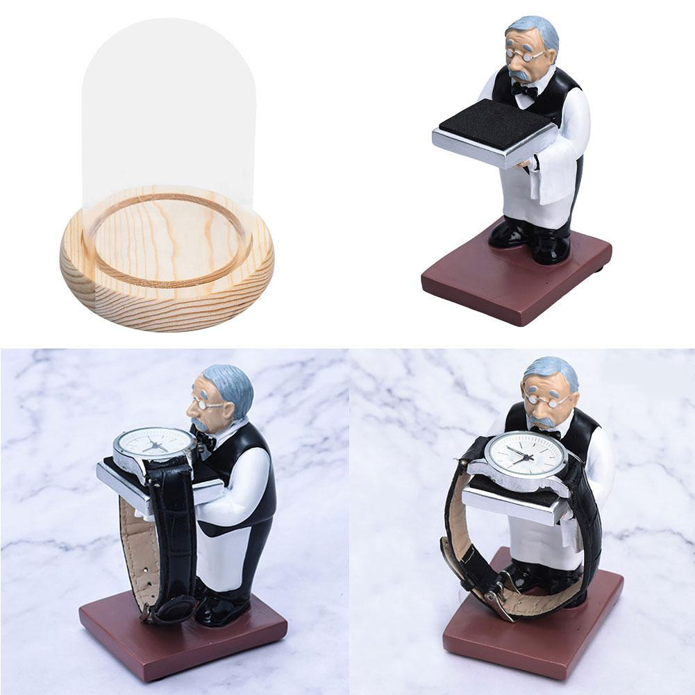 Housekeeper Butler Watch Storage Box Case Glass Cover Jewelry Display Rack Stand Home Storage Holders Organization