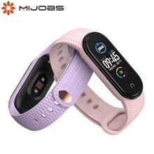 Für Mi Band 5 Strap Armband Miband 6 Opaska Transluzenten Armband für Xiaomi Correa Mi Smart Band 5 4 3 pulseira Silikon Pasek