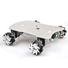 Metal Mecanum Wheel Arduino Robot Car Kit with 4pcs DC 12V Speed Encoder Motor, 4WD Robot Platform Chassis Maximum Load 15Kg t60 metal crawler tanks chassis intelligent robot model with 37 motor