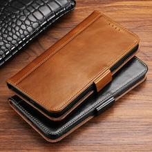 купить Genuine Leather Wallet Case For iPhone 11 Pro Max Xs Max Xr X 8 7 6s Plus Vintage Flip Folio Stand View Kickstand with ID Credit Card Pockets дешево