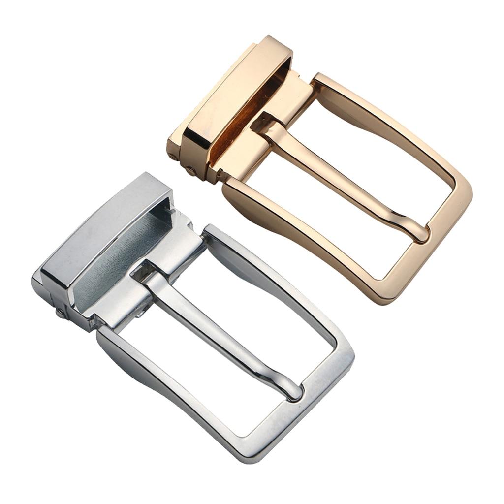 Classic Reversible Mens Durable Metal Alloy Antique Belt Buckle Single Prong Gold Slivel Belt Buckle