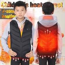 Зимней одежды в стиле унисекс для детей с usb подогревом на