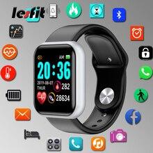 Lesfit Y68 Waterproof Digital Smart Watch Stylish Men Blueto
