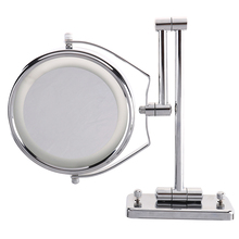 Makeup-Mirror Light Folding Silver LED with Double-Wall-Mount Hot-Sale 1pc 6-