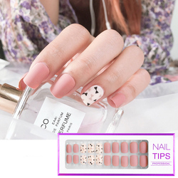 30 Pcs/Box Full Cover Fake Nail Reusable False Nail Art Form Mixed Size Extension Tips With Adhesive Sticker Manicure Tool