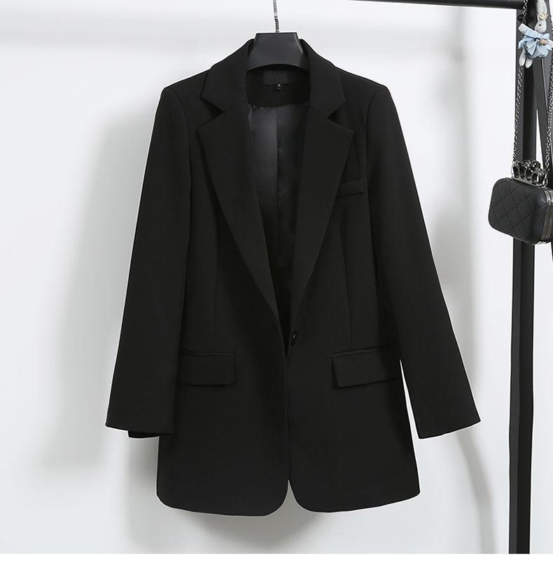 Elegant Black Single Button Women Blazer Jacket 4