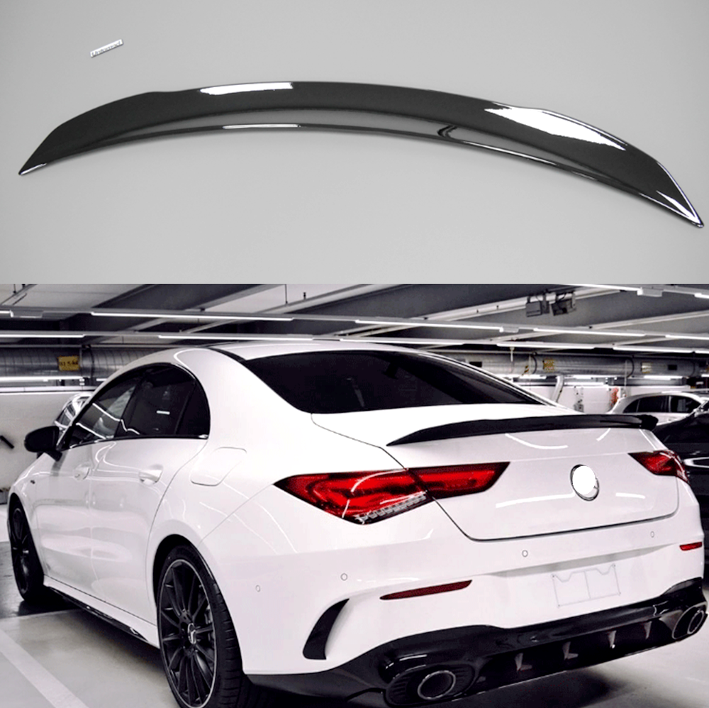 Glossy Black For Mercedes Benz W118 C118 CLA35 CLA180 CLA200 <font><b>CLA250</b></font> CLA45 AMG Line 2019-2024 Rear Trunk <font><b>Spoiler</b></font> Tail Wing Lip image