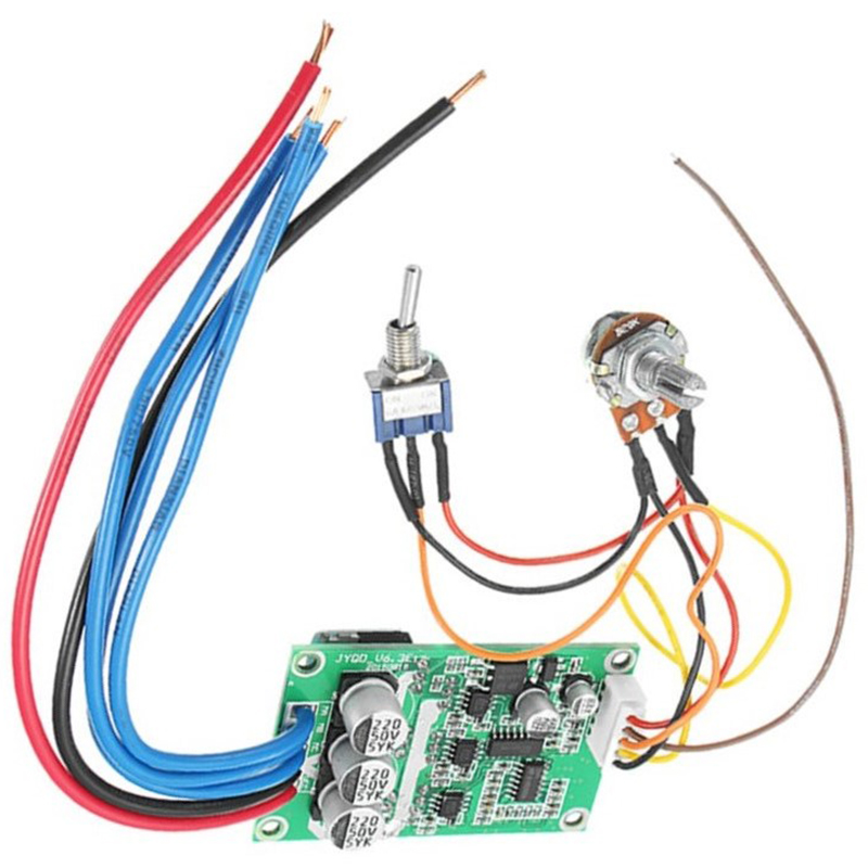 1Pc DC 12V-36V 500W High Power Brushless Motor Controller Driver Board Assembled No Hall Promotion