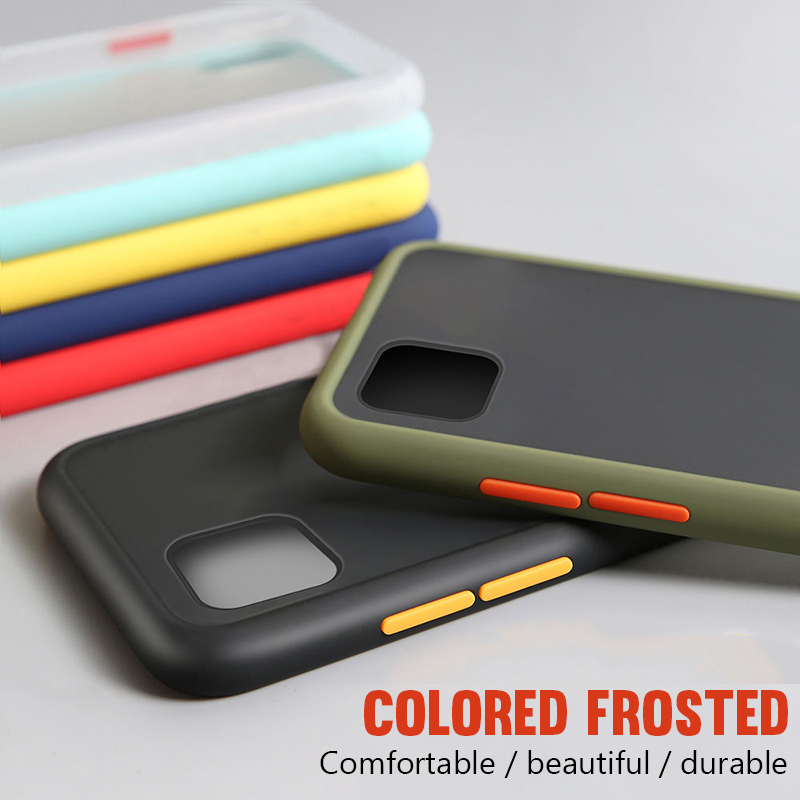 Matte Silicone Shockproof Bumper <font><b>Phone</b></font> <font><b>Case</b></font> For Oneplus 7T 7 Pro 6T <font><b>6</b></font> Cover For <font><b>One</b></font> <font><b>plus</b></font> 1+6T 7 7T 1+7 1+7T Pro Transparent <font><b>Case</b></font> image