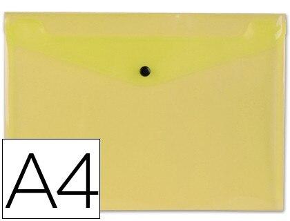 FOLDER LIDERPAPEL DOSSIER BROOCH 34041 Polyprophylene DIN A4 YELLOW TRANSPARENT 50 SHEETS 12 Units