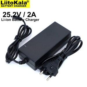 Image 2 - Liitokala 25.2V 2A 6 série lithium chargeur de batterie 18650 chargeur de batterie 25.2V courant Constant chargeur 2A courant continu 5.5*2.1MM