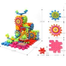 3D головоломка строительные блоки пластиковые электрические шестерни блоки игрушки детские DIY Кирпичи Bulid игровая площадка Развивающие игрушки для детей