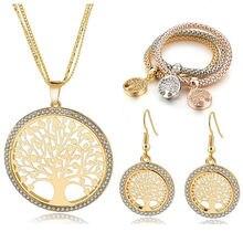 Модные ювелирные изделия attractto ожерелье и серьги с деревом