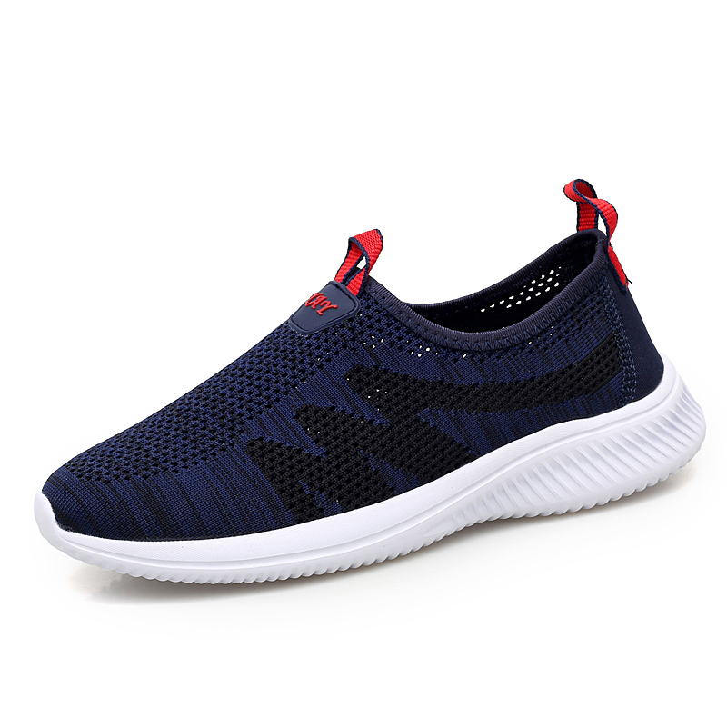 Spring new men and women casual shoes comfortable casual non-slip casual shoes men and women casual flying knit shoes wholesale