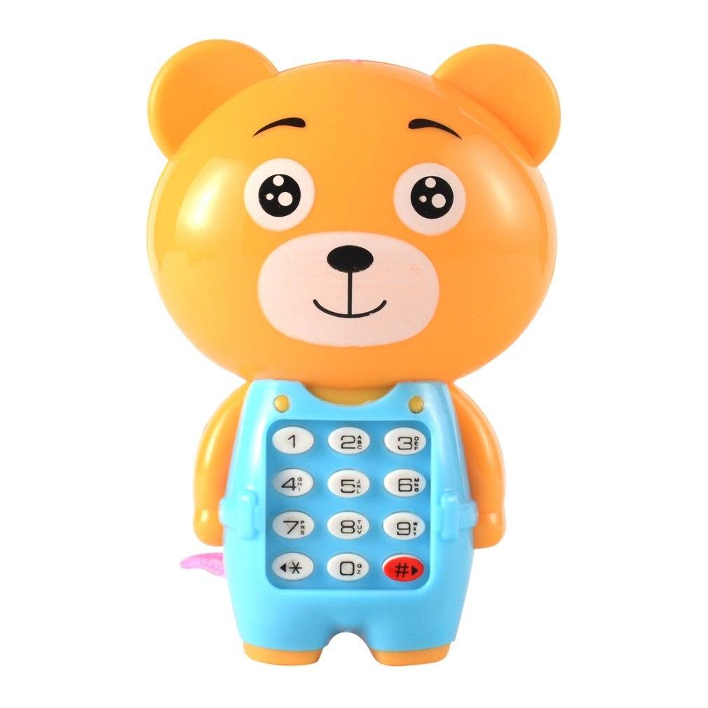 Креативный мультяшный музыкальный мобильный телефон светящийся Детский развивающий маленький подарок детские игрушки