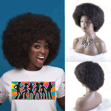Perucas afro para as mulheres curto kinky encaracolado peruca macia e macia em camadas perucas de temperatura curto fibra sintética afro sopro peruca