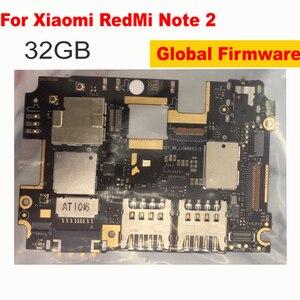 Глобальная материнская плата для Xiaomi Redmi Note 2 32GB Note2, материнская плата разблокирована с чипами, гибкий кабель с google