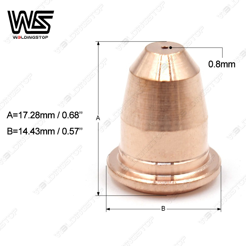 Trafimet Cutter PD0116 Plamsa 08 Torch Electrodes  PR0110 Amp Nozzle Tips Style  200pcs S45 S25