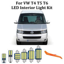 Kit de lumières de dôme intérieur de coffre, Canbus 100% blanc sans erreur LED, pour VW Volkswagen T4 T5 T6 Multivan Caravelle Transporter