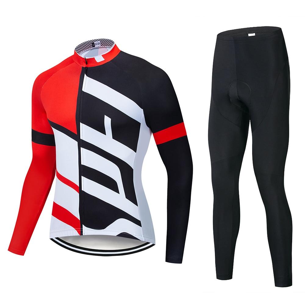 Новинка 2021, осенний комплект, одежда для велоспорта, Мужской трикотажный костюм, спортивная одежда для езды на велосипеде и горном велосипе...