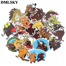 20 Pcs/set DMLSKY The Angry Beaver Cute album sticker Waterproof Scrapbooking for Car Luggage Laptop Phone Decal M3807