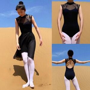 Image 1 - Ballet Leotard Adult 2020 Black Comfortable Practice Dance Wear Women Aerobics Gymnastics Leotard Adult Ballet Dancing Skirt