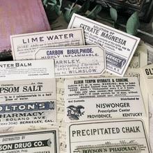 16 sztuk Vintage angielski \ książki \ stara gazeta \ Retro etykiety \ bilety \ granice materiał DIY Ablum Diary Scrapbooking dekoracyjne naklejki