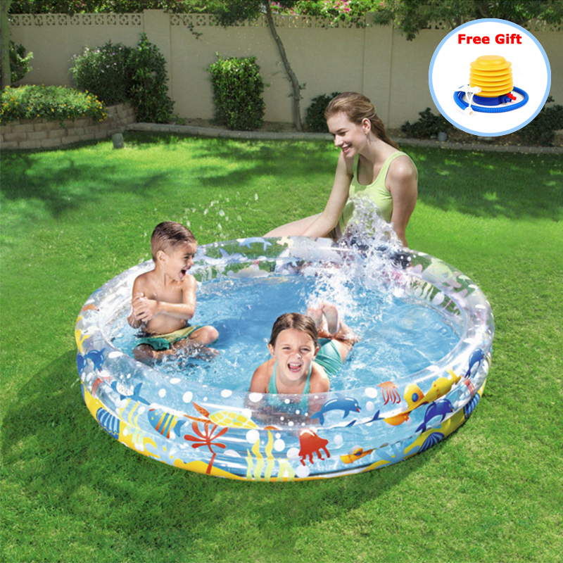 Baby Inflatable Round Swimming Pool PVC Safe Summer Inflatable Bath Tub Water Party Toys Swimming Pool For Kids Piscine