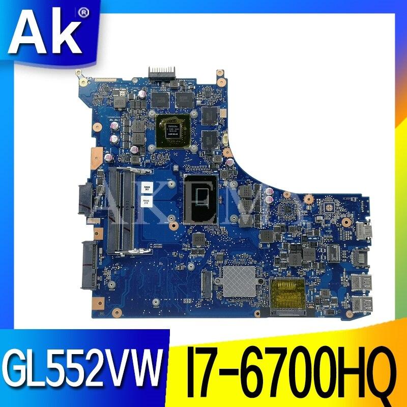 GL552VW Pour ASUS GL552VW ZX50V GL552VX ordinateur portable carte mère GL552VW I7-6700HQ GTX960M/GTX950M Test carte mère d'origine