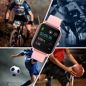 Image 3 - Full Screen Touch P8 Smart Horloge Polsbandje Mannen Vrouwen Sport Meer Horloge Gezicht Hartslagmeter Sleep Monitor IP67 Smartwatch