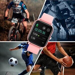 Image 3 - 전체 화면 터치 P8 스마트 시계 팔찌 남성 여성 스포츠 더 많은 시계 얼굴 심장 박동 모니터 수면 모니터 IP67 Smartwatch