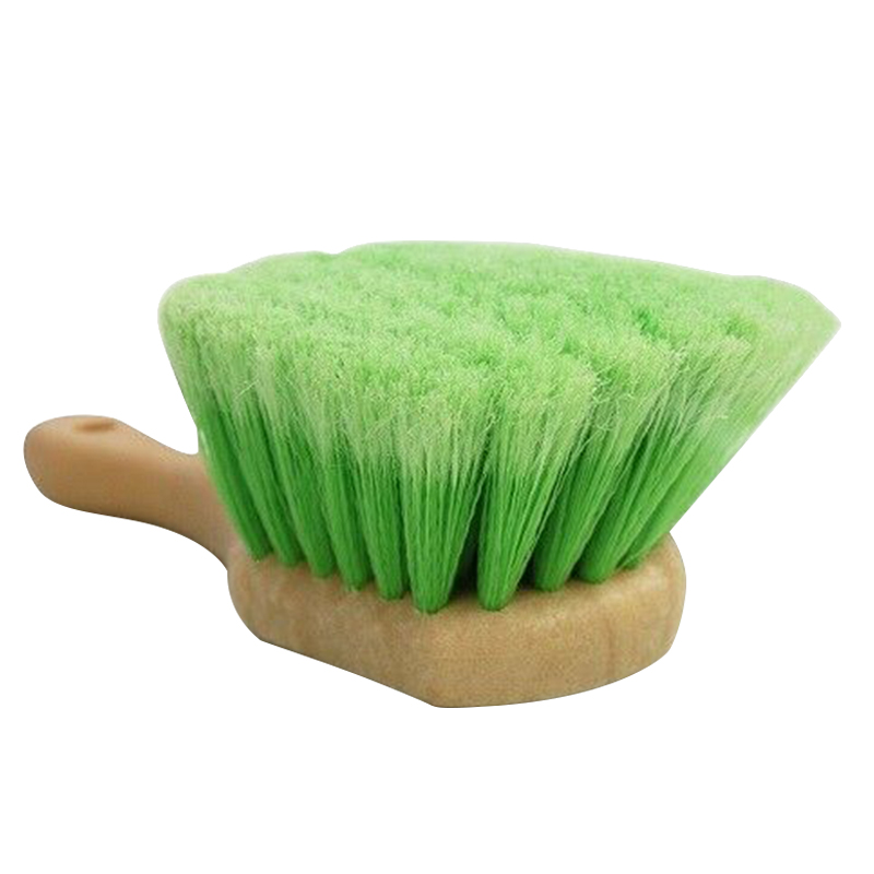 Soft And Hard Tire Brush Short Handle Scrub Brush For Wooden Handle Wheel Cleaning Dirt Removing Car Cleaning Accessories