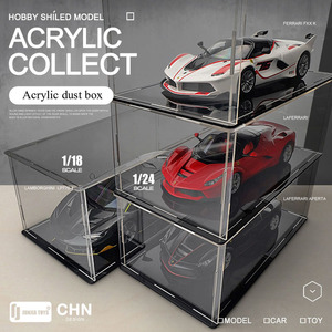 High transparent acrylic display box, hand-made dust cover, dustproof display box, alloy model car golf doll collection