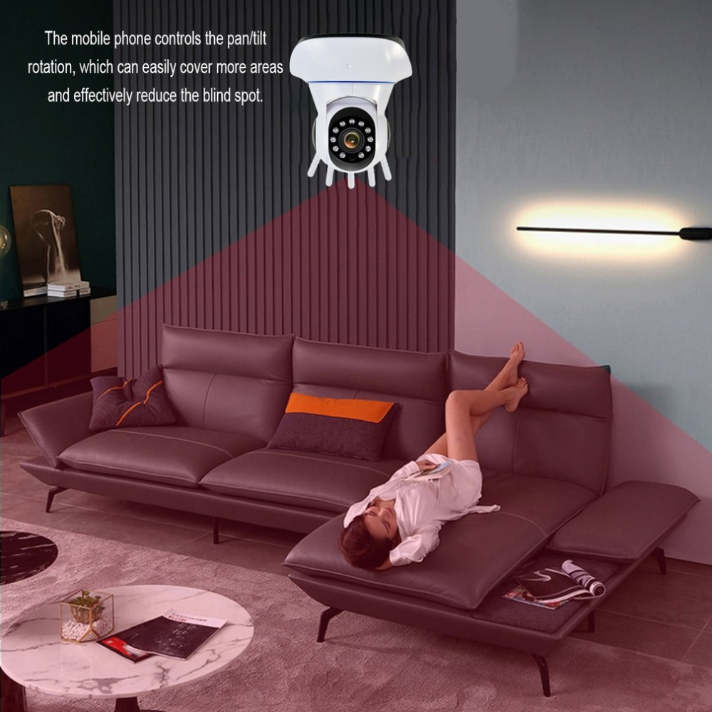 1080P WIFI secure IP head camera wireless infrared 360-degree camera