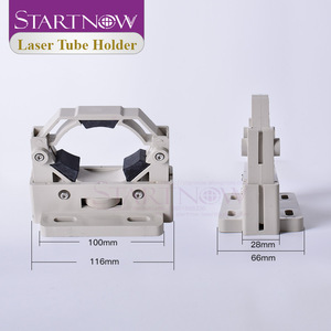 Image 3 - Startnow CO2 الليزر أنبوب حامل جبل مرنة البلاستيك مصباح دعم D50 80 حامل قابل للتعديل قاعدة لقطع الليزر القاطع آلة