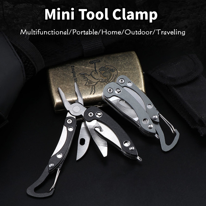Mini Portable Stainless Steel Clip Pliers Outdoor Sports Camping Traveling Survival Tactical Tools Self Defense Equipment
