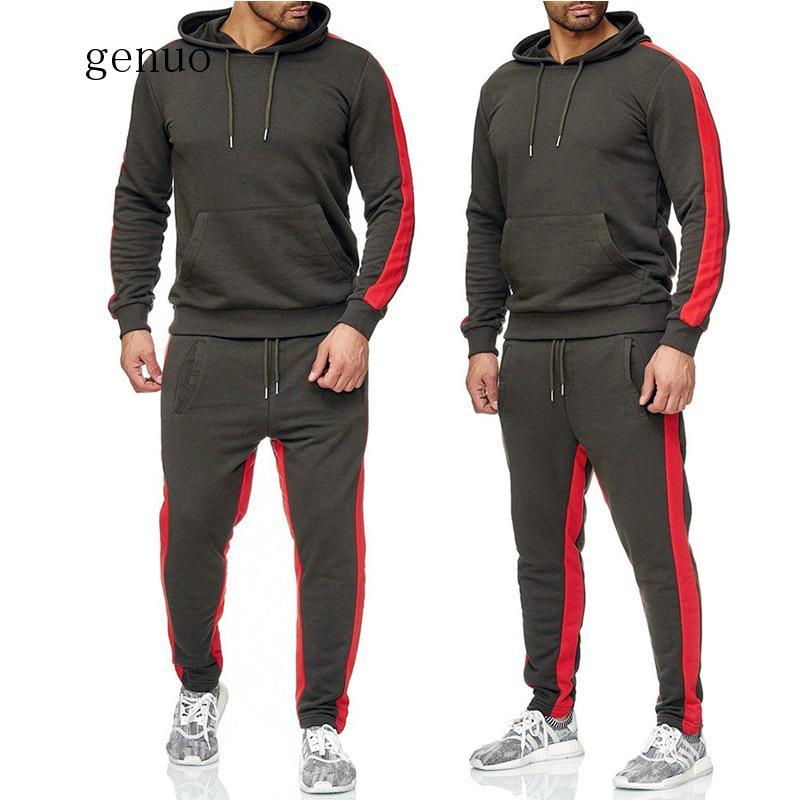 New Men's Leisure Sports Suit, Hip-hop Cotton Jogging Trousers + Hat Shirt Street Style Leisure Suit 2020 Men's Sportswear
