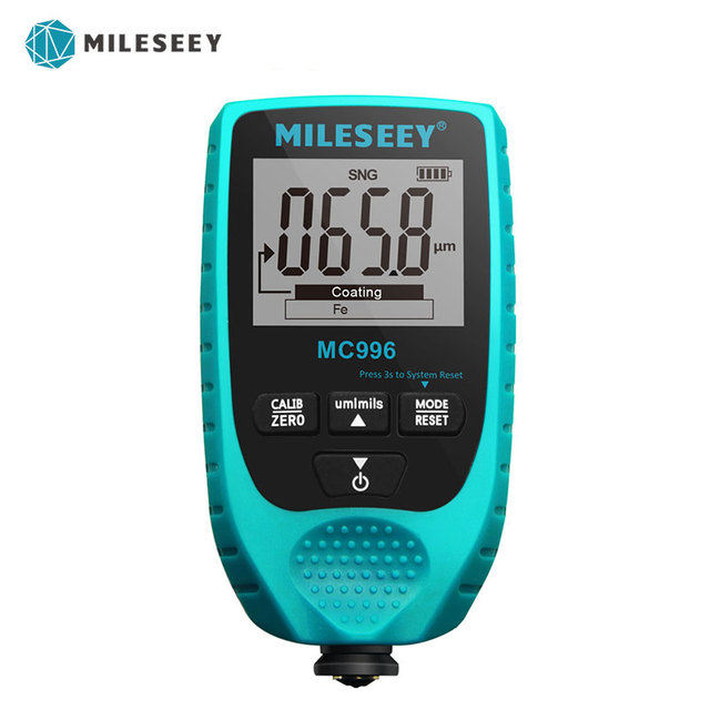 MILESEEY Thickness Gauges MC996 Paint Thickness Gauge Auto Thickness Tester Car Paint Thickness