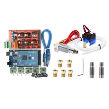 1 set 3D Printer RAMPS 1.4 Controller + MEGA2560 R3 + A4988 with Heat Sink Kit, Reprap & 1 set All-Metal V6 J-Head Hotend Extrud(China)