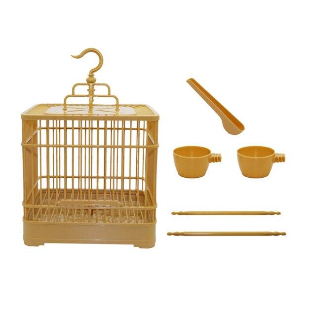 Bird Cage With Feeder - 23x23x22cm 4