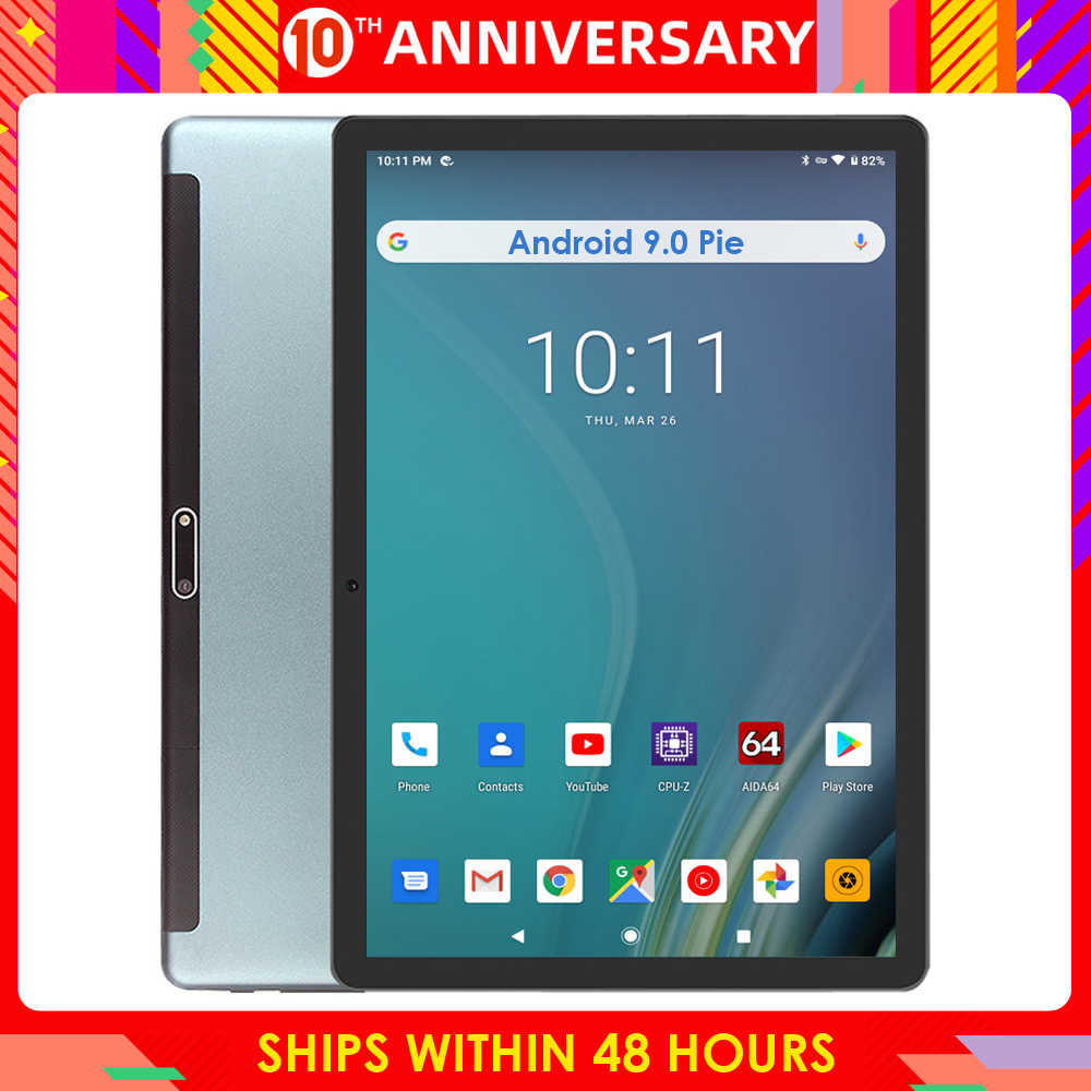 2020 Google Android 9.0 Pie 10 Inch Tablet 3G Telefoongesprek 32 Gb Emmc Opslag 1280*800 Ips wifi Tabletten 10 10.1 Youtube Gps Pad