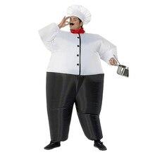 Надувной костюм шеф-повара для женщин и мужчин, взрослых, надувные костюмы, костюмы на Хэллоуин, вечерние, карнавальные, косплей, наряд повара, Комбинезоны