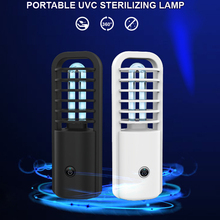 Uv Light Sanitizer Small Uvc Sterilizer Lamp Portable Usb Charging Home Disinfection Lamp For Home Bedroom Safety Cleaning