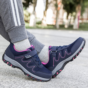 Image 5 - PINSEN 2020 yeni sonbahar kadın ayakkabı yüksek kaliteli açık yürüyüş rahat ayakkabılar kadın rahat dantel up daireler anne ayakkabısı