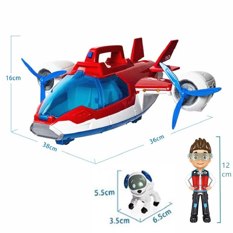 Подлинный собачий патруль набор игрушек воздушный патруль летательный аппарат игрушка собака Райдер капитан робот собака может перемещат...