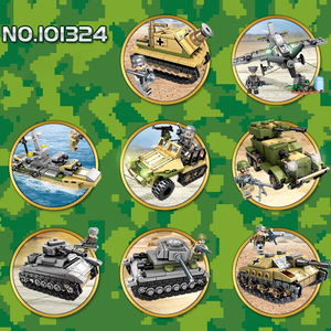 Image 3 - Sembo Building Blocks 1061pcs Military Series Helicopter ww2 Figures Weapon Gun Soldiers Tank Educational Toys for Children Gift